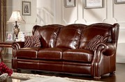 Caesar Palace American Style Leather 3-seater Sofa
