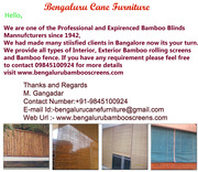 Bamboo Screens Bangalore Call 9845100924