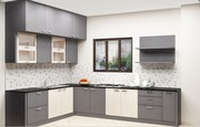L Shaped Modular Kitchen Online In India