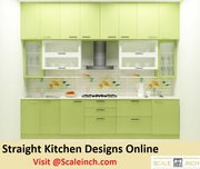 Buy Contemporary Small Straight Line Kitchen Designs - Call 7676760027