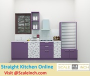 Buy Affordable Straight Line Modular Kitchen - Call 7676760041