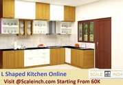 Buy L – Shaped Modular Kitchens Designs Online From Scaleinch