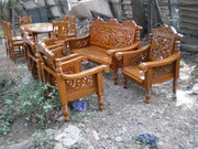 brand new original teak wood sofa cot dinning table MFG price